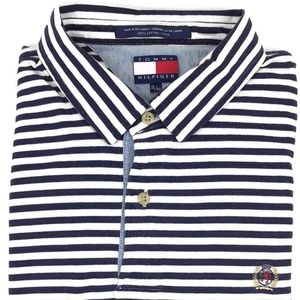 Tommy Hilfiger Striped Polo Shirt Men's Size XL Sz